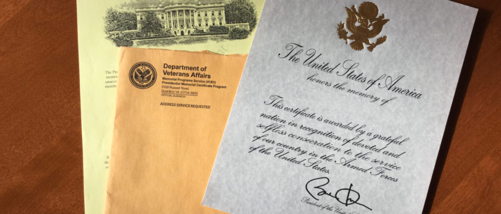 How To Obtain A Presidential Memorial Certificate Funeral Help Center