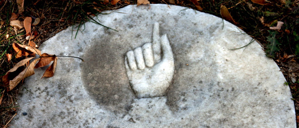 Cemetery Headstone Symbols Finger Pointing Up Funeral Help Center